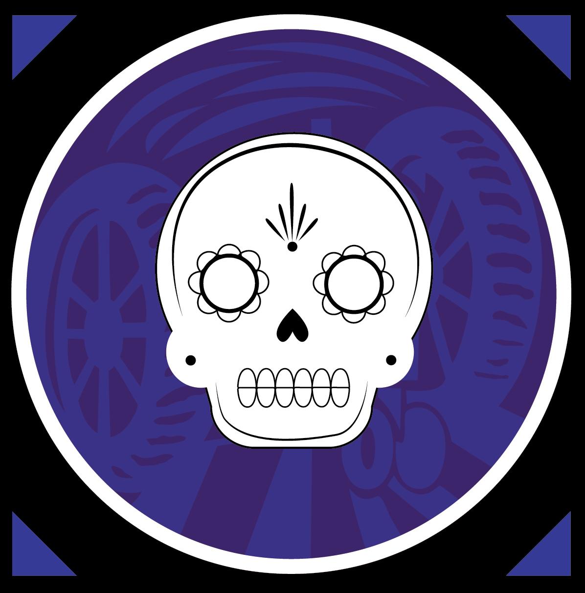 Luna de los Muertos skull beer icon