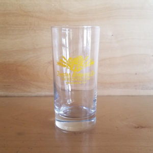 Tractor 12 ounce Collins Glass with yellow logo