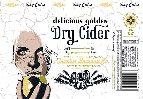 Golden Dry Cider Can