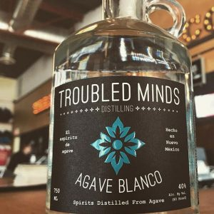 Troubled Minds Distilling Agave Blanco bottle