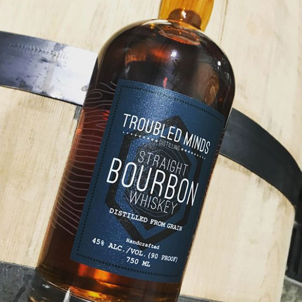 Troubled Minds Bourbon Bottle