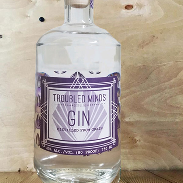 Troubled Minds Gin Bottle