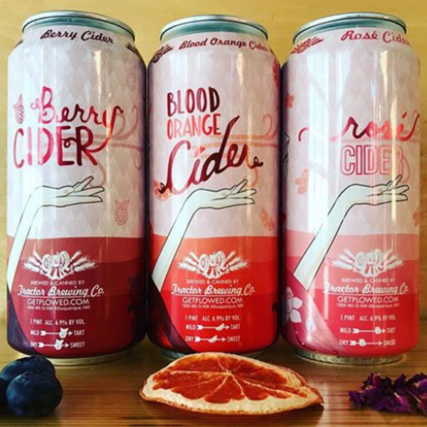 Blood Orange, Berry, and Rose Cider cans