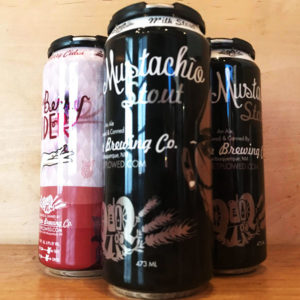 Four Pack Cans with Milk Stout and berry cider