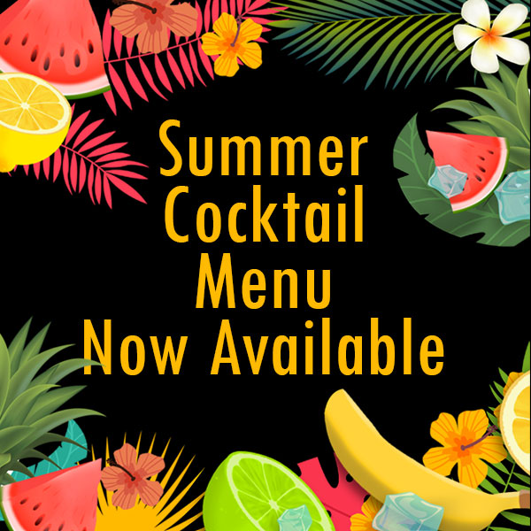 Summer Cocktail Menu Now Available
